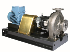 C Series long coupled ISO 5199 heavy duty chemical transfer pump designed & manufactured by Amarinth.