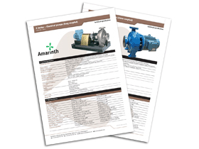 Technical specifications & options - C Series ISO 5199 chemical process pumps