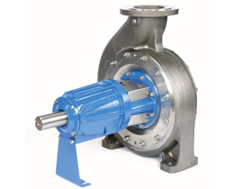 N Series long coupled ISO 5199 heavy duty chemical transfer pump designed & manufactured by Amarinth to fully interchange with a Girdlestone 910 & 920 series pump.