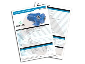 Technical specifications & options - close coupled pumps